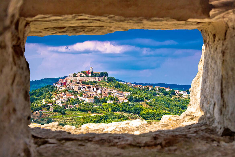 Městečko Motovun na Istrii
