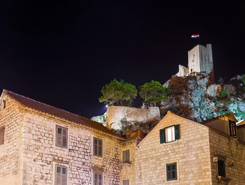 Pirátská pevnost Mirabela v Omiši