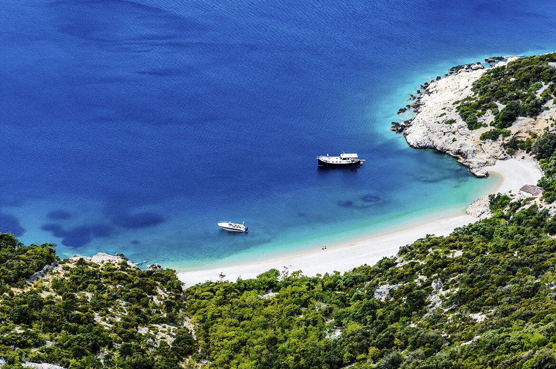 Pláž Lubenice na ostrově Cres