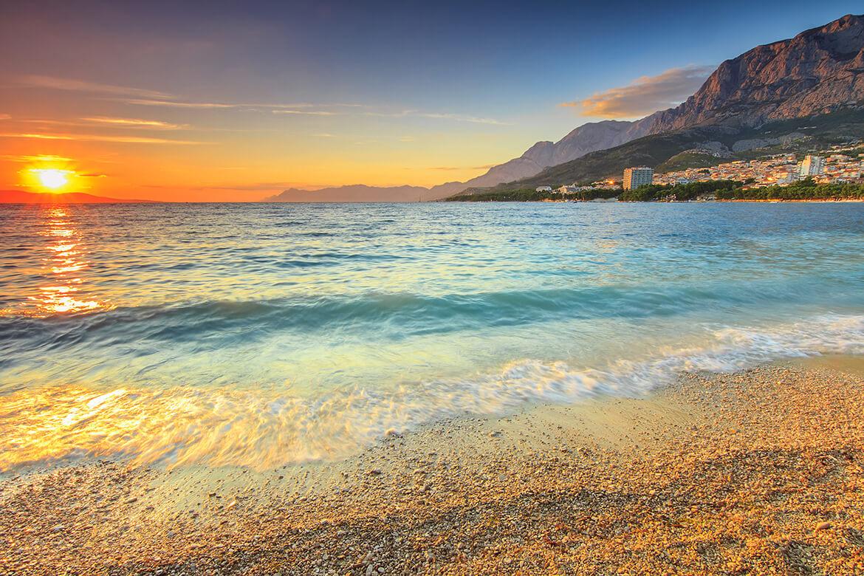 Jedna z pláží v Makarské