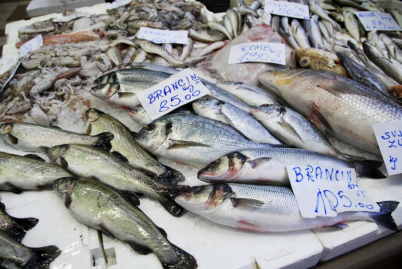 Rybí trhy nabízejí skvělý výběr ráno chycených ryb