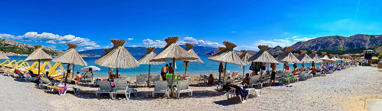 Vela plaža v Bašce na ostrově Krk